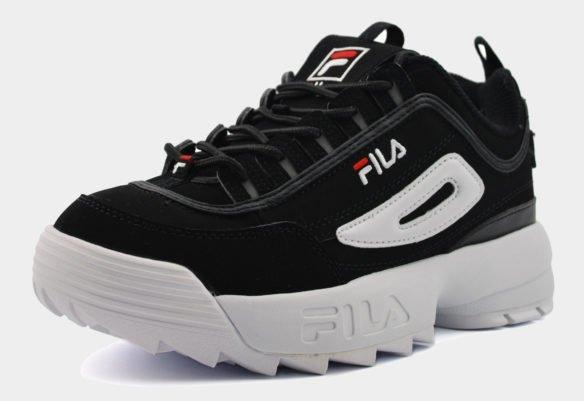 Черные Fila Disruptor с белой подошвой
